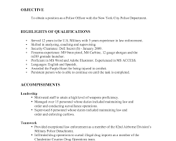 Police Resume Examples by Oceanfronthomesforsaleus Pleasing Sample Resume Format Custom