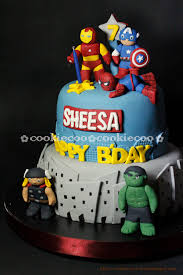 spiderman cake hulk cake superman cake batman cake captain america