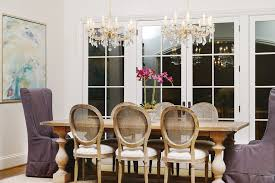 Chandeliers For Dining Room Traditional Raleigh Farm House Table Dining Room Traditional With Oval Back