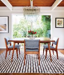 in the dining room jens risom chairs wear perennials fabric rug