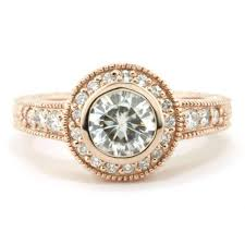 carved engagement rings classic stylish bezel set moissanite engagement ring moissanite