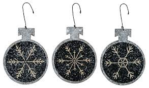 small snowflake tin ornaments by primitives by kathy the