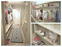 mudroom plans designs tutorial for making a built in mudroom for a narrow hallway the