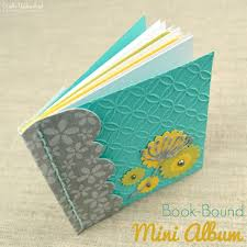 make a photo album mini album tutorial step by step crafts unleashed