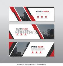 layout banner template red abstract corporate business banner template stock vector