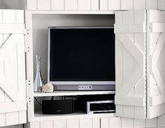 barn door tv wall cabinet washed brown shutter tv wall cabinet living room ideas pinterest