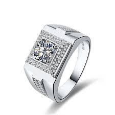 silver rings for men wedding zircon silver rings qat jewellery