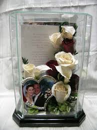 preserved wedding flowers in a glass box www facebook com