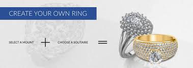 create your own ring buy solitaire diamond ring at best prices in inda create your