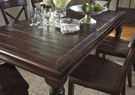 9 piece solid pine dining table set by signature design by ashley