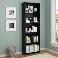 Espresso Bookcase With Doors Bookcases Espresso Bookcase With Glass Doors Threshold Bookshelf