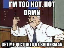 Hot Hot Hot Meme - too hot hot damn bring me pictures of spiderman gif on imgur