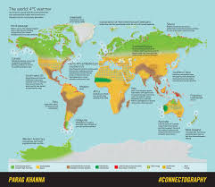 World Temperatures Map by The World 4 Degrees Warmer U2014 Parag Khanna