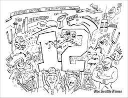 fresh seahawks coloring pages 46 for your line drawings with