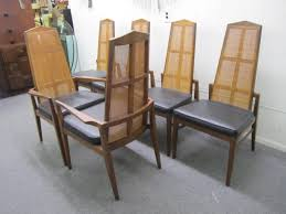 Modern Walnut Dining Chairs Six Walnut Foster And Mcdavid Back Dining Chairs Mid Century