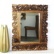 wall mirrors rectangular wood framed wall mirrors cherry wood