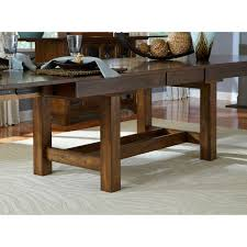 Trestle Dining Room Table by A America Mariposa Rectangular Trestle Dining Table Rustic