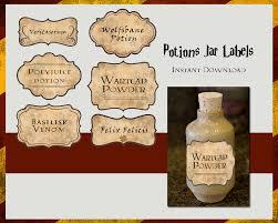 Free Printable Halloween Potion Bottle Labels Harry Potter Potions Labels Digital File Por Tlcarts En Etsy