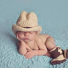 newborn costumes crochet baby cowboy hats and boots set from aihumnoi on etsy