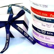 personalized ribbon for favors 3 8 personalized ribbon favor boxes 100pcs efavormart