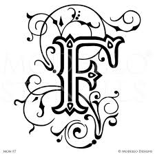 monogram letter monogram wall custom lettering stencils from modello designs