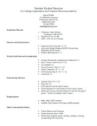academic resume template for college high school academic resume template