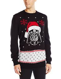 wars s vader claus sweater black small at s