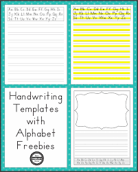 templates for handwriting handwriting templates with alphabet guides your therapy source