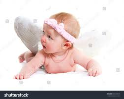 lovely baby wings on white stock photo 282223049