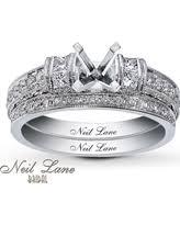 neil bridal set amazing deal neil bridal setting 3 8 ct tw diamonds 14k