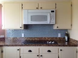 glass tile kitchen backsplash interior blue tile kitchen backsplash added by white black mini from
