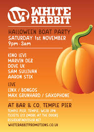 ra white rabbit halloween boat party at bar u0026co london 2014