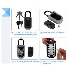 digital key lock box wall mount 10 digit portable padlock key safe box with combination lock safe