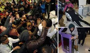 black friday tvs on sale black friday chaos woman hurt by falling tv and shoppers arrested