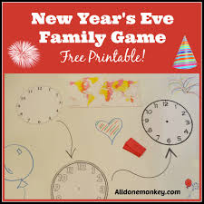 new year u0027s eve family game free printable all done monkey