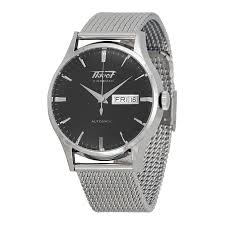 stainless steel bracelet tissot images Tissot visodate black dial stainless steel mesh watch jpg