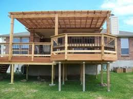 Deck With Pergola by Pergola U0026 Raised Deck Would Love To Do This Off The Back Of Our