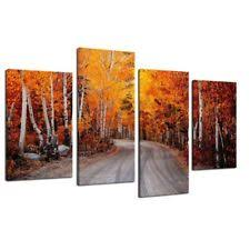 Birch Home Decor Framed Birch Wood Landscape Nature Picture Prints Canvas Wall Art