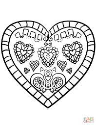 colouring hearts love vintage free heart coloring pages