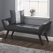 upholstered bedroom chair living room vintage bench window seat