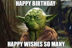 Funny Yoda Memes - best star wars funny happy birthday meme happy wishes