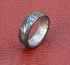 damascus steel wedding band men damascus steel wedding band silver