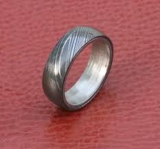 damascus steel wedding band men damascus steel wedding band silver