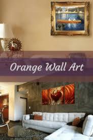 Vivid Playful and Bold Orange Wall Art