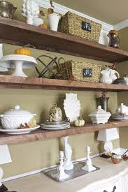 fall dining room shelves 2 bees in a pod