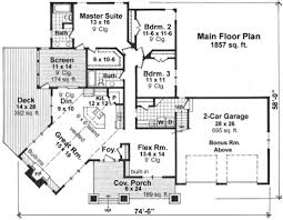 Craftsman Style House Floor Plans Craftsman Style House Plan 3 Beds 2 00 Baths 1857 Sq Ft Plan 51 518