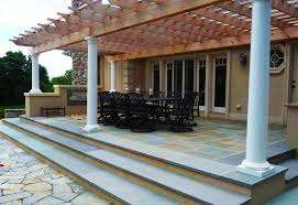 Rear Patio Designs Patio Cover Columns Pergola And Patio Cover Christensen Landscape