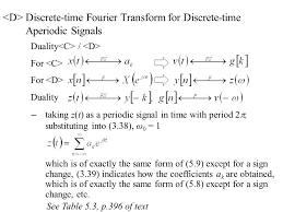 Fourier Transform Table 5 0 Discrete Time Fourier Transform 5 1 Discrete Time Fourier