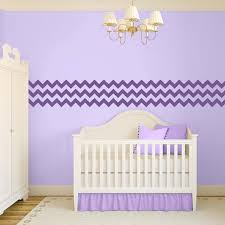 Purple Wall Decals For Nursery Chevron Wall Decal Removable Wall Decal Borders