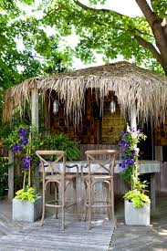 Tiki Patio Furniture by Tiki Huts Deck Tropical With Bar Bar Deck Exterior Outdoor Bar